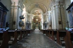 Interior of Radna Monastery Royalty Free Stock Photos