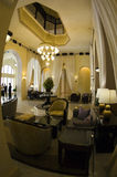 Interior Raffles Hotel Lobby Stock Photography