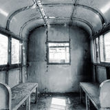 Interior of railway carriage Stock Photos