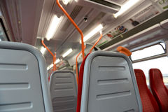 Interior of a railway carriage Stock Images