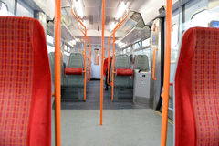 Interior of a railway carriage Stock Photography