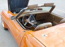 Interior of Rare Burnt Orange Corvette Sting Ray Royalty Free Stock Photos