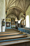 Interior Åre medieval church Stock Image