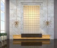 Interior with a reception desk in the style of modern classic. 3d visualization Stock Photos