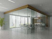 Interior of reception and meeting room 3D illustration Stock Images