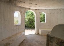 The interior of the reconstructed tomb Rabbi Mar Zutra near the kibbutz Baram in Western Galilee in Israel. Bar`am, Israel, June 09, 2018 : The interior of the Stock Photos