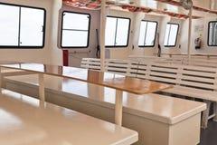 Interior recreacional de la nave del pasajero imagen de archivo libre de regalías