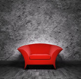 Interior with red armchair Stock Photo