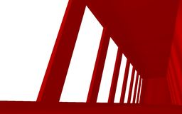 Interior Red Space Royalty Free Stock Photography