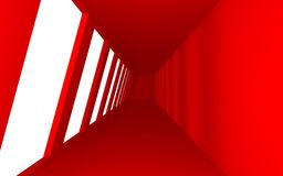 Interior Red Space Stock Photo