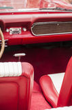 Interior of red sports car Royalty Free Stock Photography