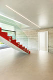 Interior, red staircase Royalty Free Stock Photos