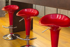 Interior, red stools Royalty Free Stock Photography