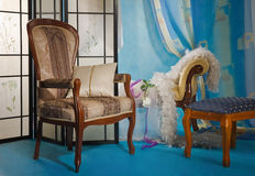 Interior refinado del gabinete de señora fotos de archivo