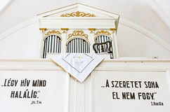 Interior of reformed Church Elizabethan church XIII c. Khust, Ukraine Stock Photo