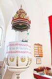 Interior of reformed Church Elizabethan church XIII c. Khust, Ukraine Stock Photos