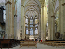 Interior of Regensburg Cathedral Royalty Free Stock Photos