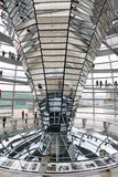 Interior of Reichstag dome in Berlin, Germany Stock Photo