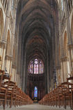 Interior of Reims cathedral Stock Photos