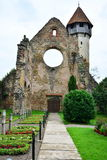 Interior remains of a Gothic monastery. Stock Photos