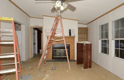 Interior Remodel of Mobile Home royalty free stock images