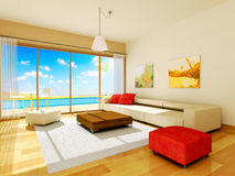 Interior render Stock Image