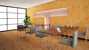 Interior rendering of a bar Stock Photography