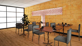 Interior rendering of a bar Stock Images