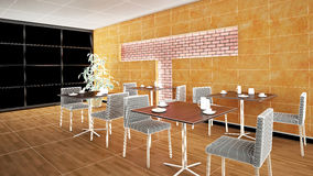 Interior rendering of a bar Royalty Free Stock Photography