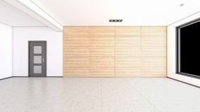 Interior rendering of an empty room Royalty Free Stock Photography