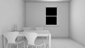 Interior rendering of a kitchen Royalty Free Stock Images