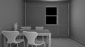 Interior rendering of a kitchen Royalty Free Stock Image