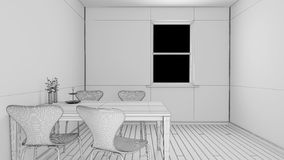 Interior rendering of a kitchen Stock Photography
