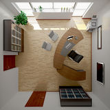Interior rendering of a modern office Royalty Free Stock Photography