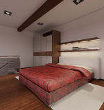 Interior rendering of a modern tiny loft Stock Photography