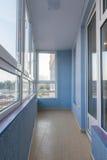 Interior renovated balcony multistory apartment house Royalty Free Stock Photo