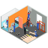 Interior Renovation Room or House Isometric View. Vector Royalty Free Stock Photography