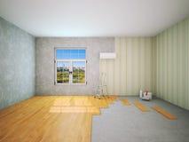 Interior during repair work 3D rendering Stock Images