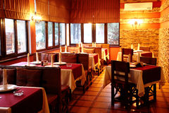 Interior of restaurant Stock Photos