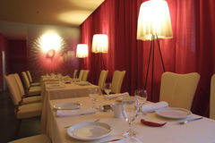interior of a restaurant Stock Photo