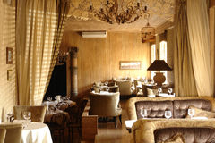 Interior of restaurant. In classic style Stock Images