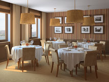 Interior of restaurant. Royalty Free Stock Images