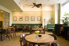 Interior of restaurant. Interior of a small restaurant Royalty Free Stock Image