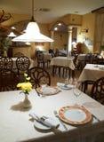 Interior of restaurant. Interior of classic elegance restaurant Royalty Free Stock Photos