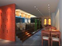 Interior of restaurant. Royalty Free Stock Image