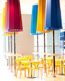 Interior in a restaurant. Modern Interior in a empty restaurant Royalty Free Stock Images