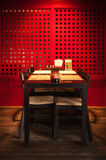 Interior of restaurant. Lunch zone in an interior of the Japanese restaurant Stock Photos