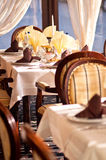 Interior of restaurant Stock Photos