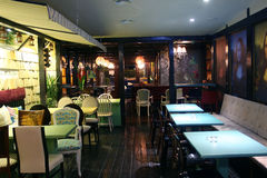 Interior of restaurant Stock Photography