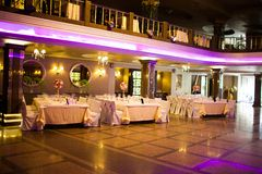 Interior of the restaurant Royalty Free Stock Image